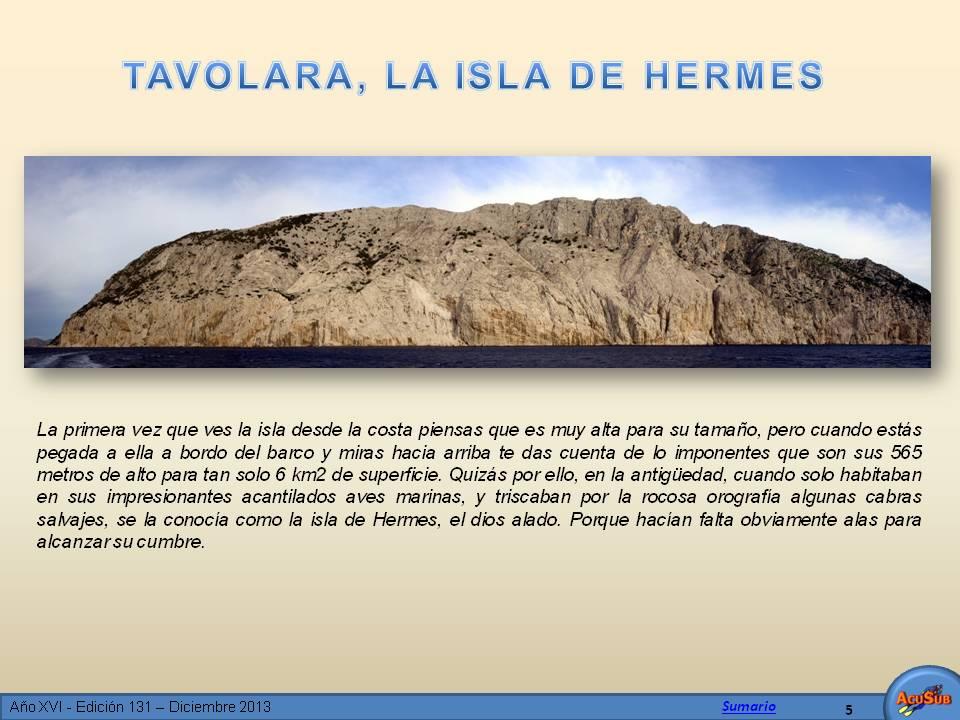 Tavolara, la isla de Hermes