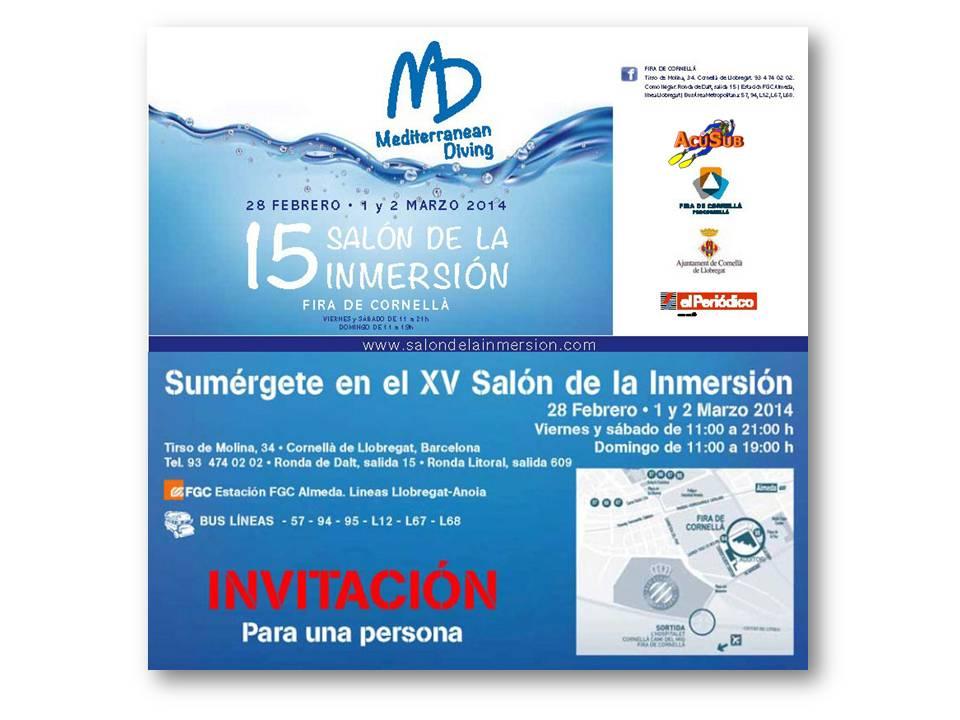Imprime tu invitación gratuita para el Mediterranean Diving – 15 Salón de la Inmersión – Fira de Cornellà (Barcelona)