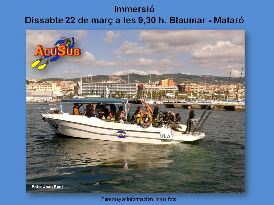Inmersión en Mataró, 22 de marzo 2014