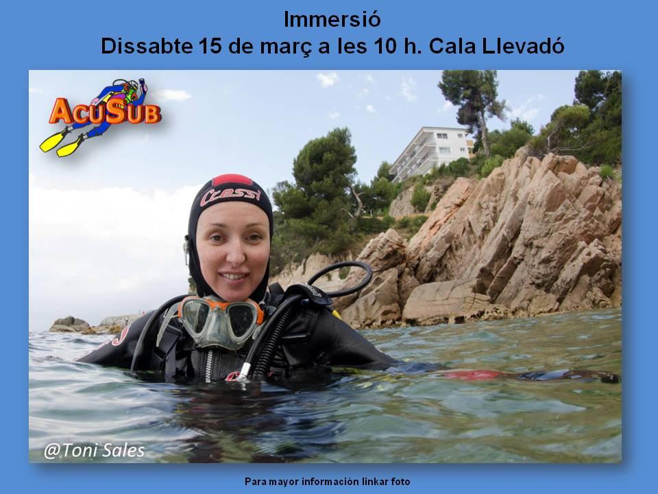 Inmersión en Cala Llevadó, 15 de marzo 2014