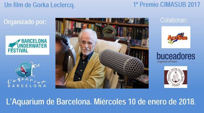 "Homenaje a Eduard Admetlla – Estreno del film de Gorka Leclercq ""Eduard Admetlla, el amigo de los peces"""