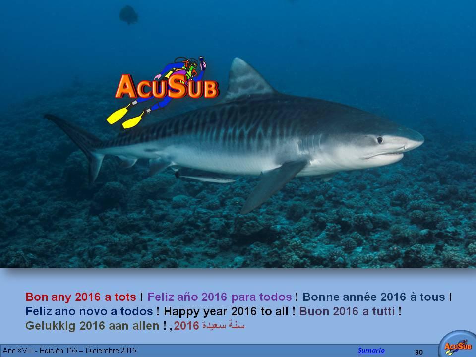 Feliz y próspero año 2016 para todos. ACUSUB
